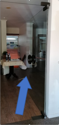 Hygienekonzept Eingang